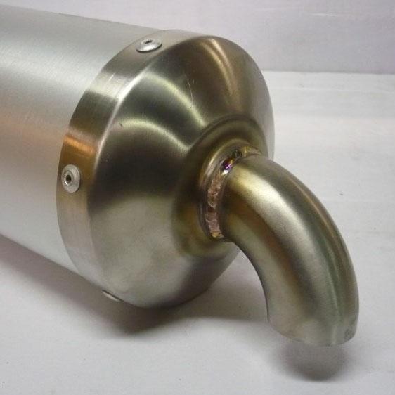 Silenziatore omologato CIK-FIA 06/EX-SI/22 - Alluminio Bianco